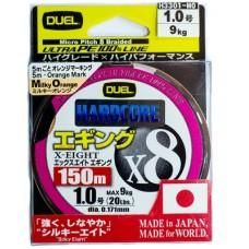 Шнур Duel PE Hardcore X8 Eging 150m MilkyOrange #0.6 (0.132mm) 5.8kg
