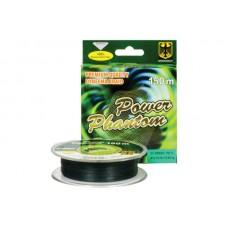 Шнур Power Phantom 4x, 150м, зеленый, 0,33мм, 38,25кг