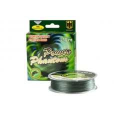 Шнур Power Phantom 4x, 330м, зеленый, 0,40мм, 46,1кг