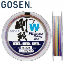 Шнур Gosen W4 braid 150м Multi Color #4 (0,342mm) 21kg